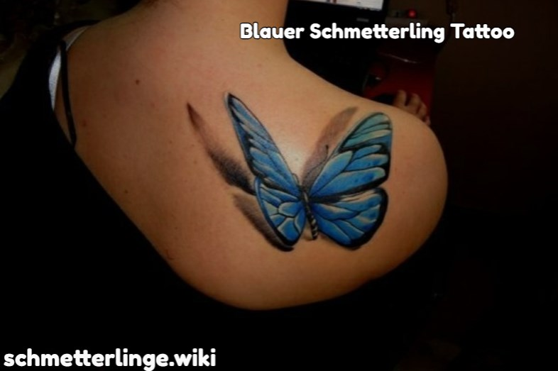 Blauer Schmetterling Tattoo