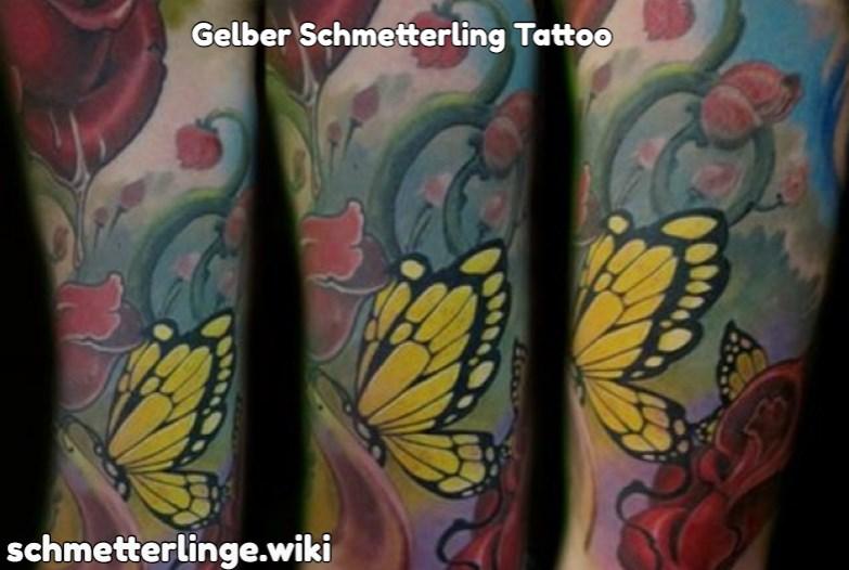 Gelber Schmetterling Tattoo
