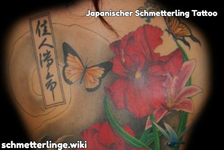 Japanischer Schmetterling Tattoo