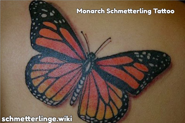 Monarch Schmetterling Tattoo