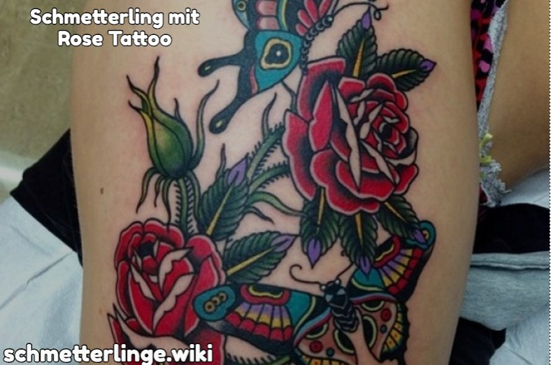 Schmetterling mit Rose